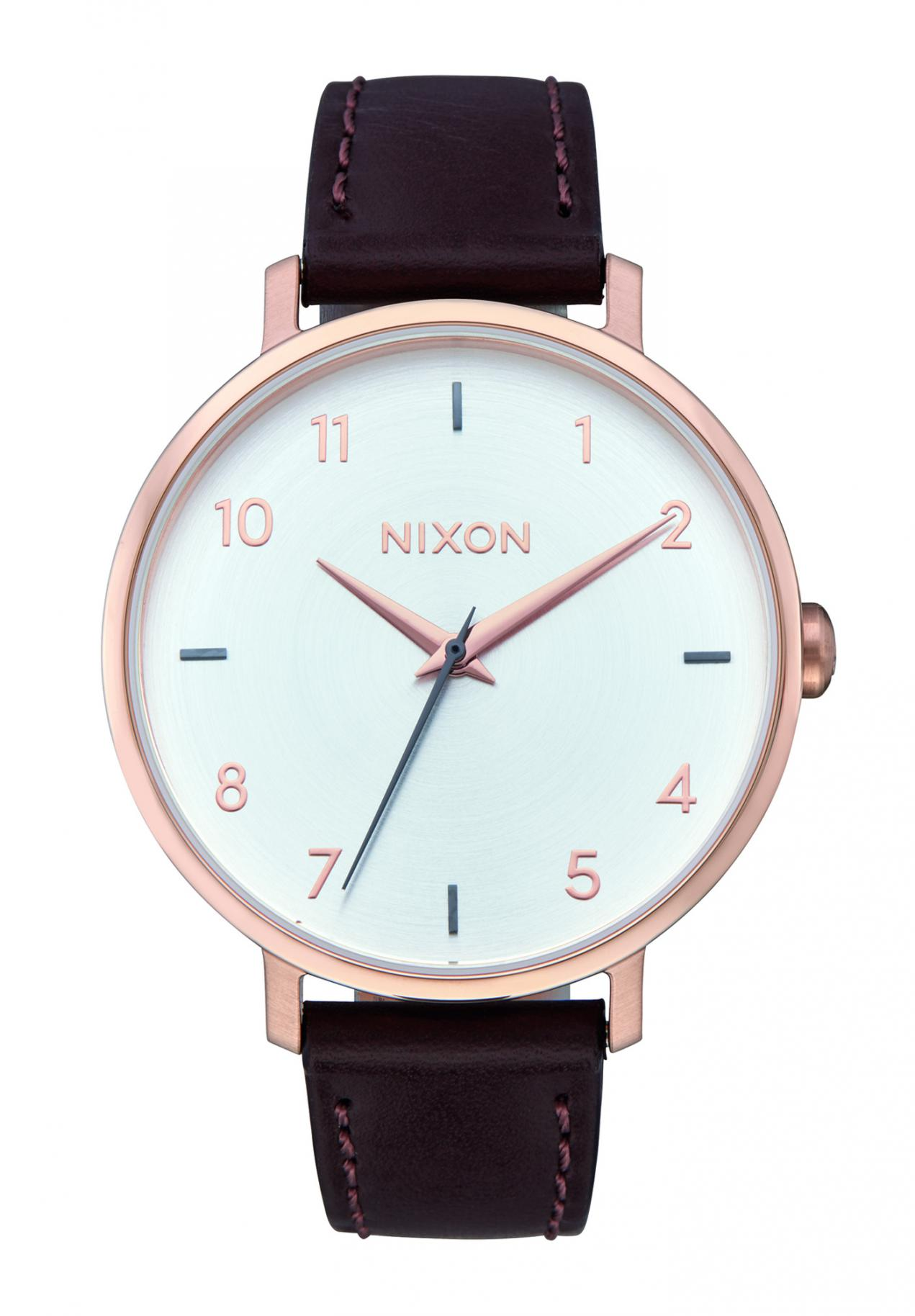 Nixon The Arrow Leather Rose Gold / Silver