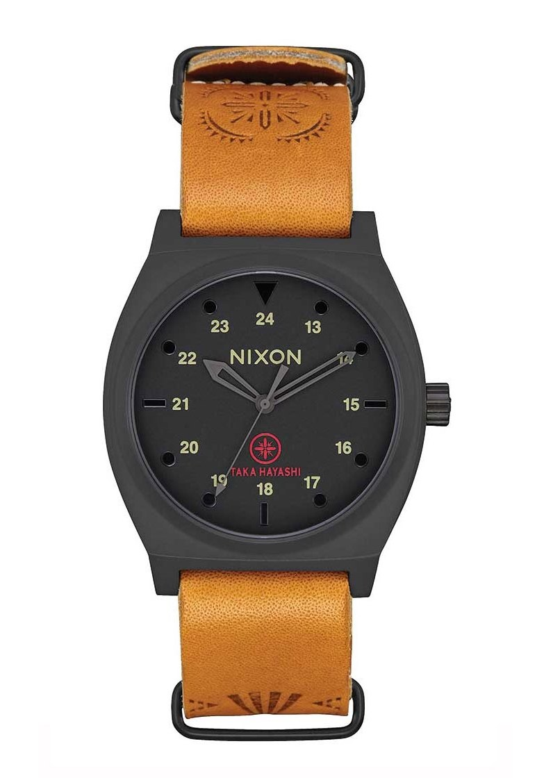 Nixon The Time Teller LTD Black / Tan Taka