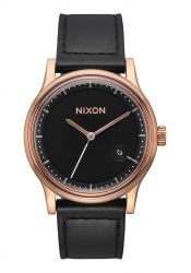 Nixon The Station Leather Rose Gold / Black (A1161-1098)