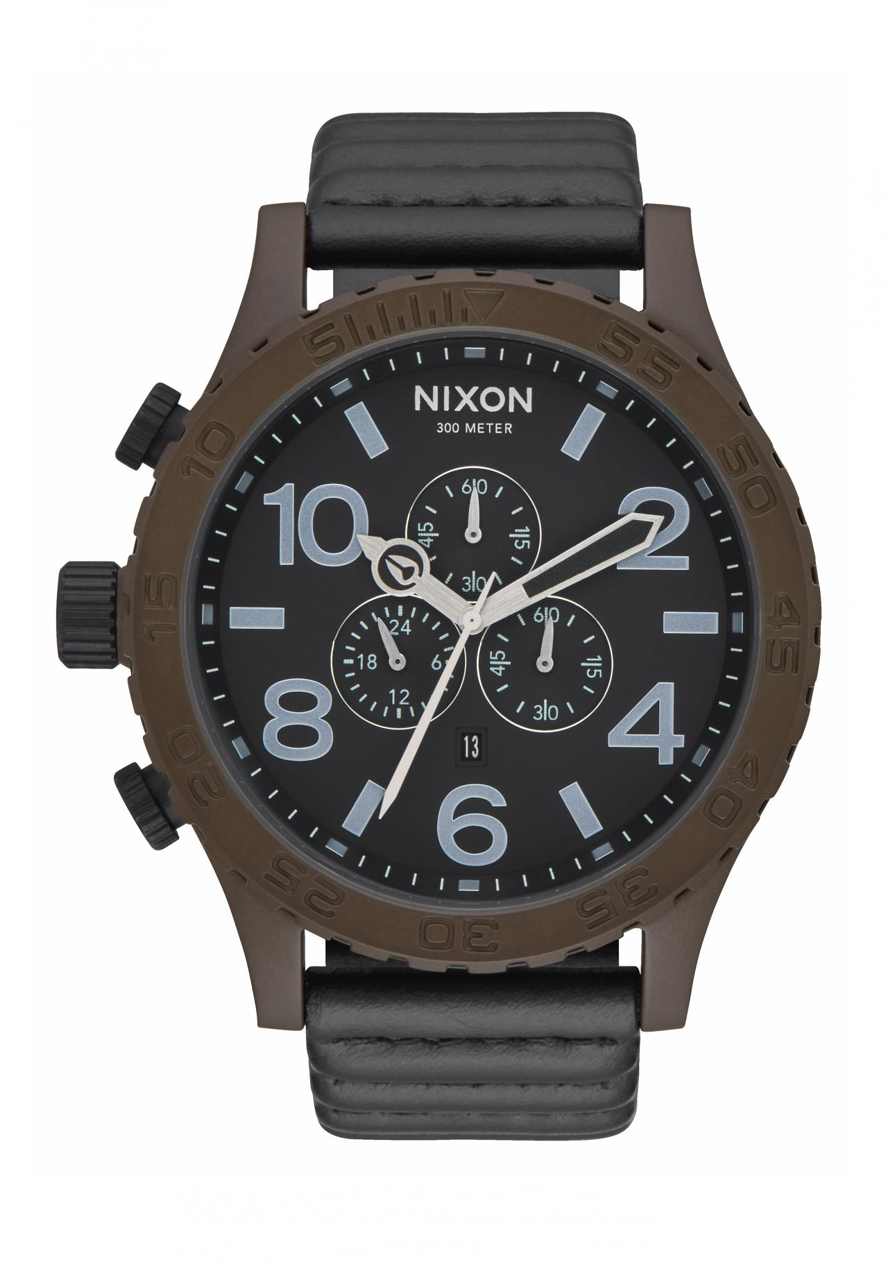 Nixon The 51-30 Chrono Leather Bronze / Black