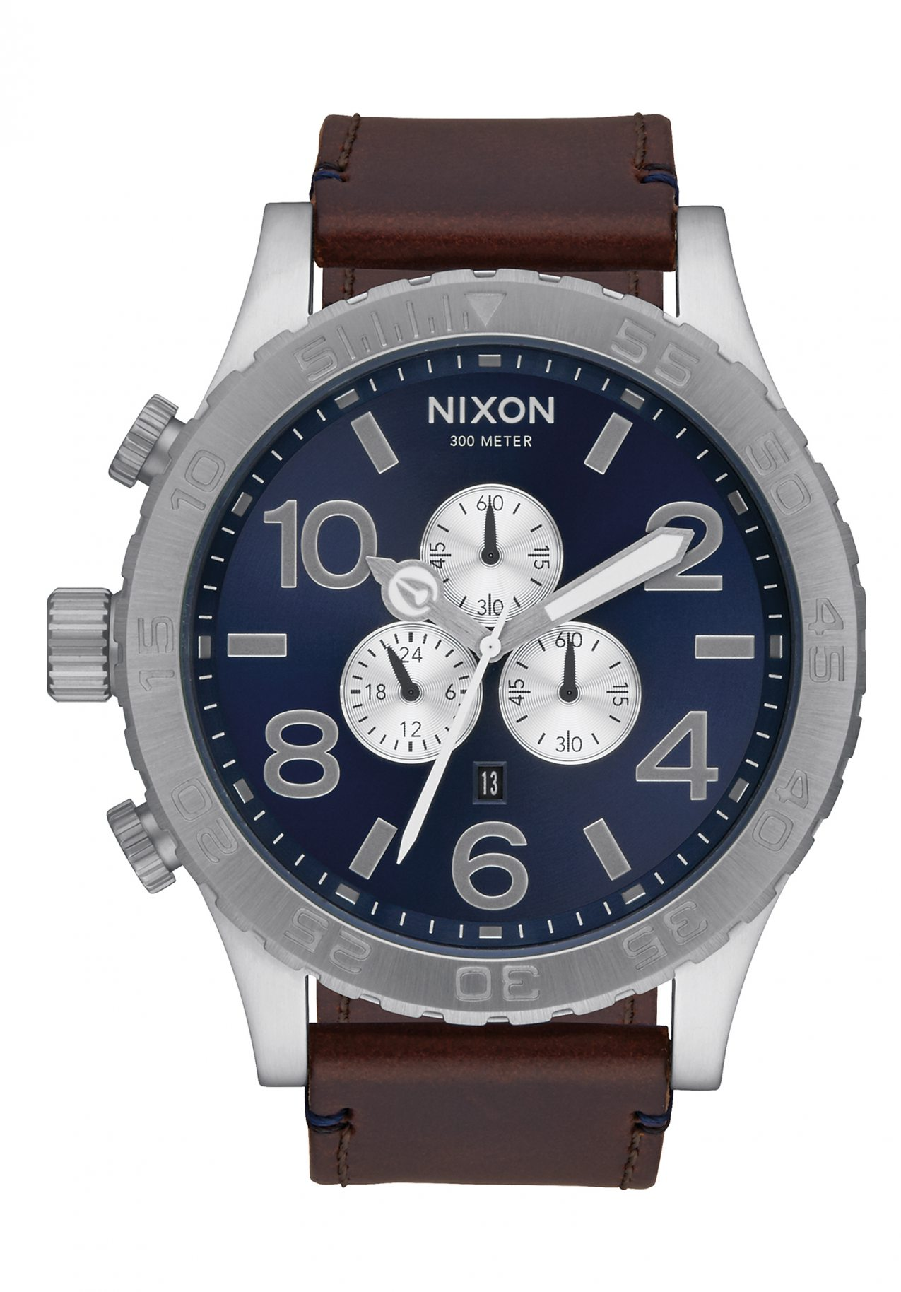 Nixon The 51-30 Chrono Leather Blue Sunray / Brown