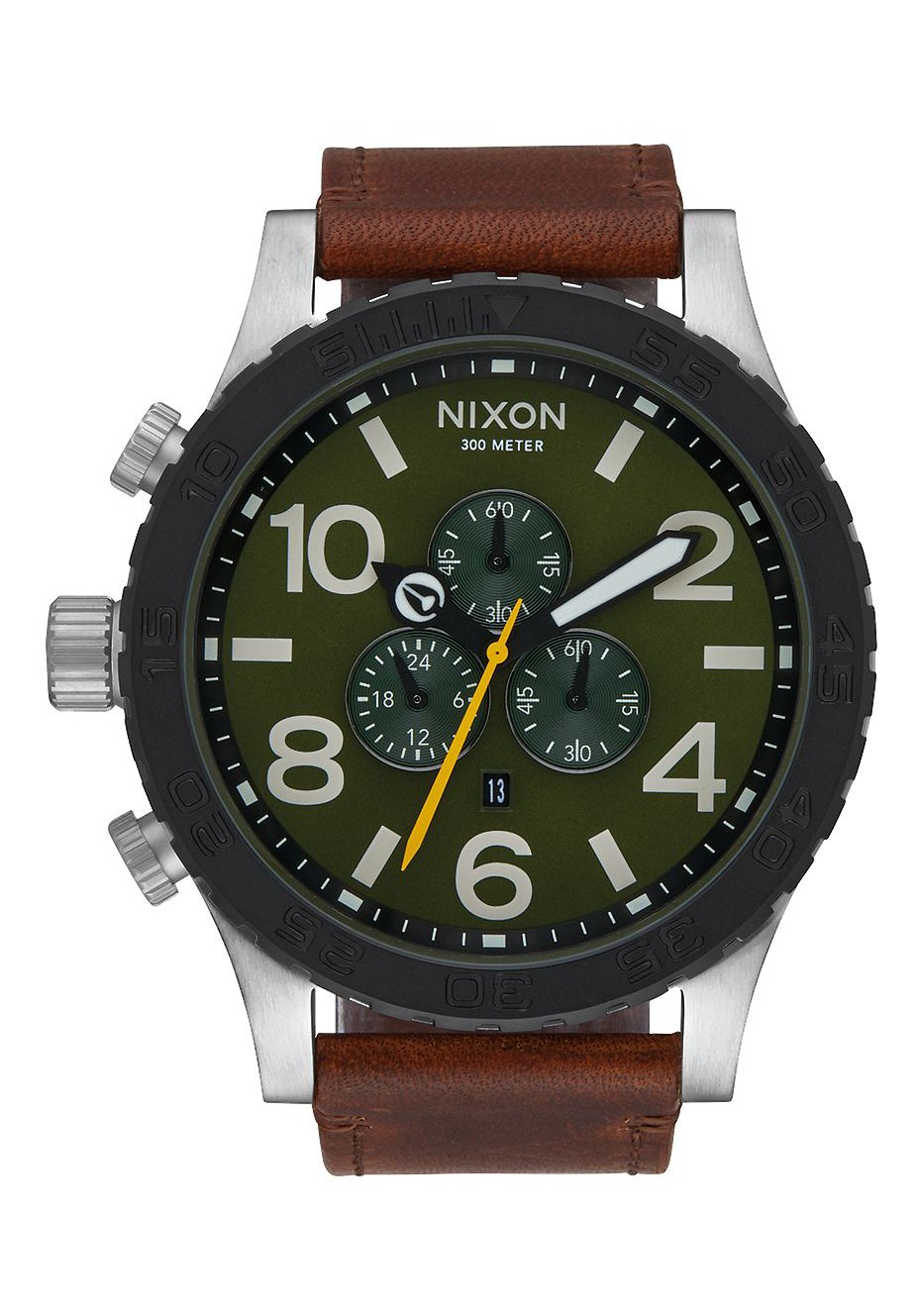 nixon the 51 30 chrono leather surplus brown a1242334 nur 429 00. Black Bedroom Furniture Sets. Home Design Ideas