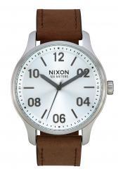 Nixon The Patrol Leather Silver / Brown (A1243-1113)