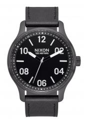 Nixon The Patrol Leather Black / Silver / Black (A1243-2998)
