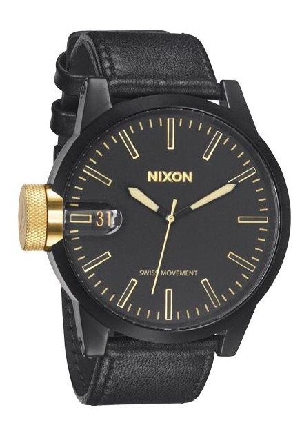 Nixon The Chronicle Black/Gold Herrenuhr