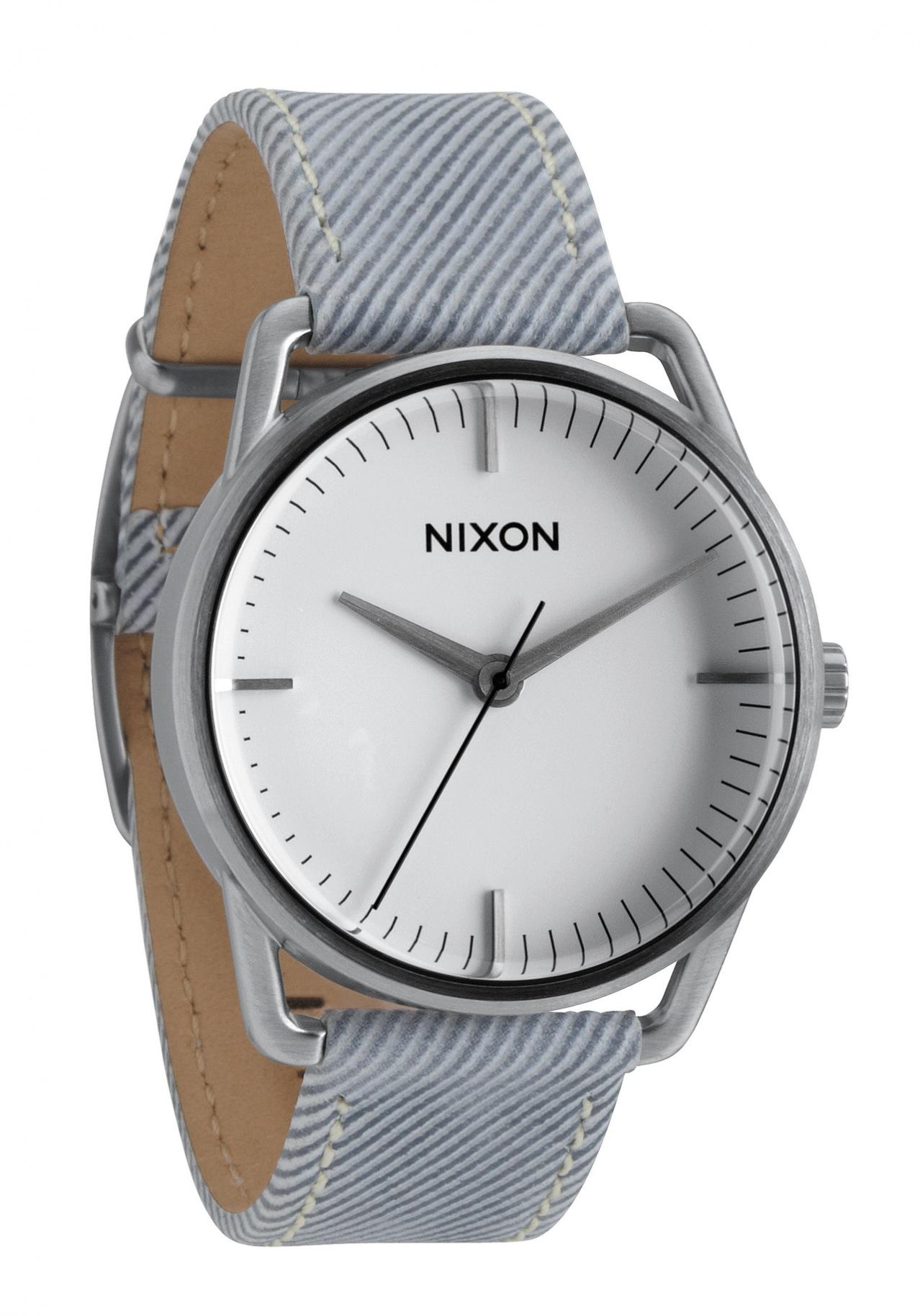 nixon the mellor pinstripe herrenuhr a129850 nur 99 00. Black Bedroom Furniture Sets. Home Design Ideas