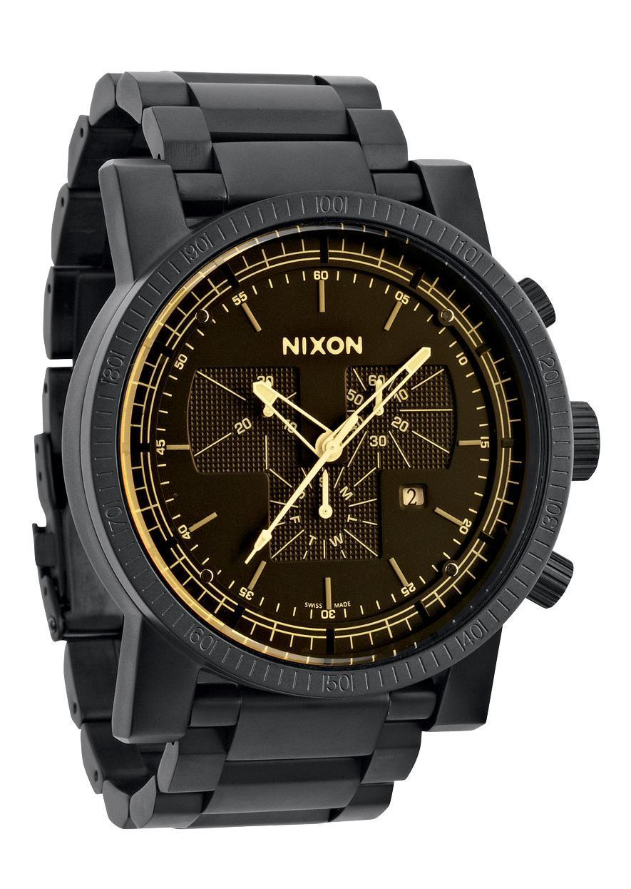 Nixon The Magnacon SS Matte Black / Orange Tint