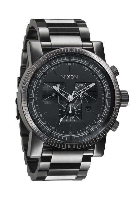 nixon the magnacon ss all gunmetal herrenchronograph nur 499 00. Black Bedroom Furniture Sets. Home Design Ideas