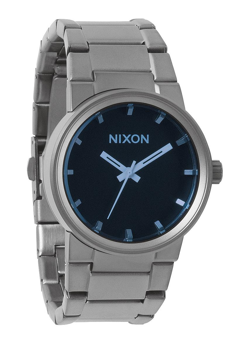 nixon the cannon gunmetal blue crystal a160427 nur 159 95. Black Bedroom Furniture Sets. Home Design Ideas