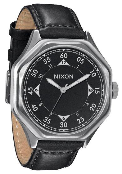 Nixon The Falcon Leather Black Herrenuhr