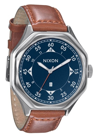 Nixon The Falcon Leather Antique Navy/Brown Herrenuhr