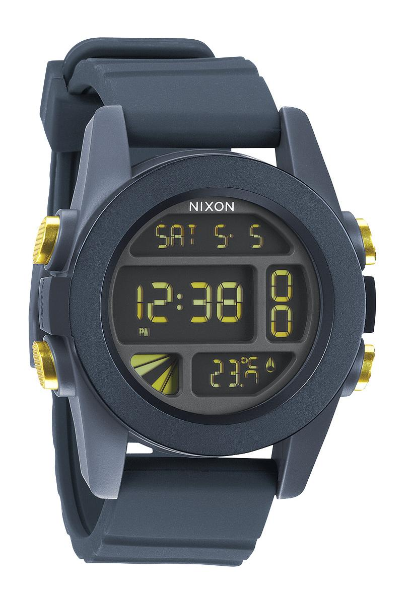 Nixon The Unit Steel Blue / Yellow Ano Herrenchronograph
