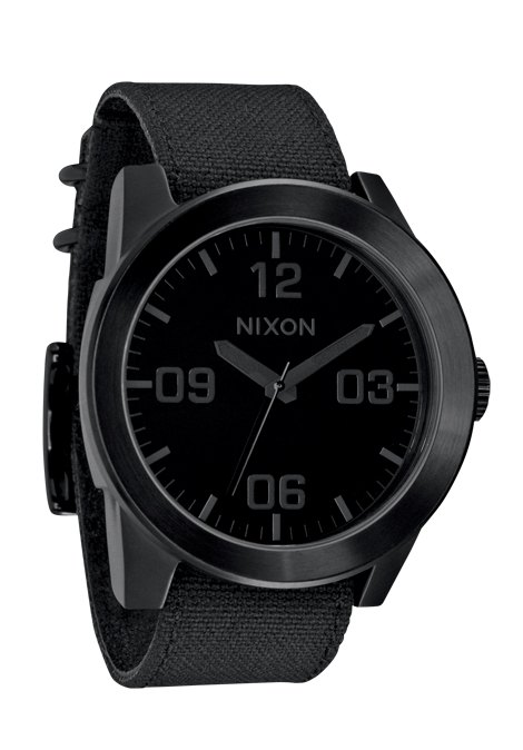 nixon the corporal all black herrenuhr a243001 nur 99 00. Black Bedroom Furniture Sets. Home Design Ideas