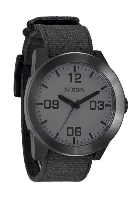 Nixon The Corporal Matte Black/Gunmetal Herrenuhr