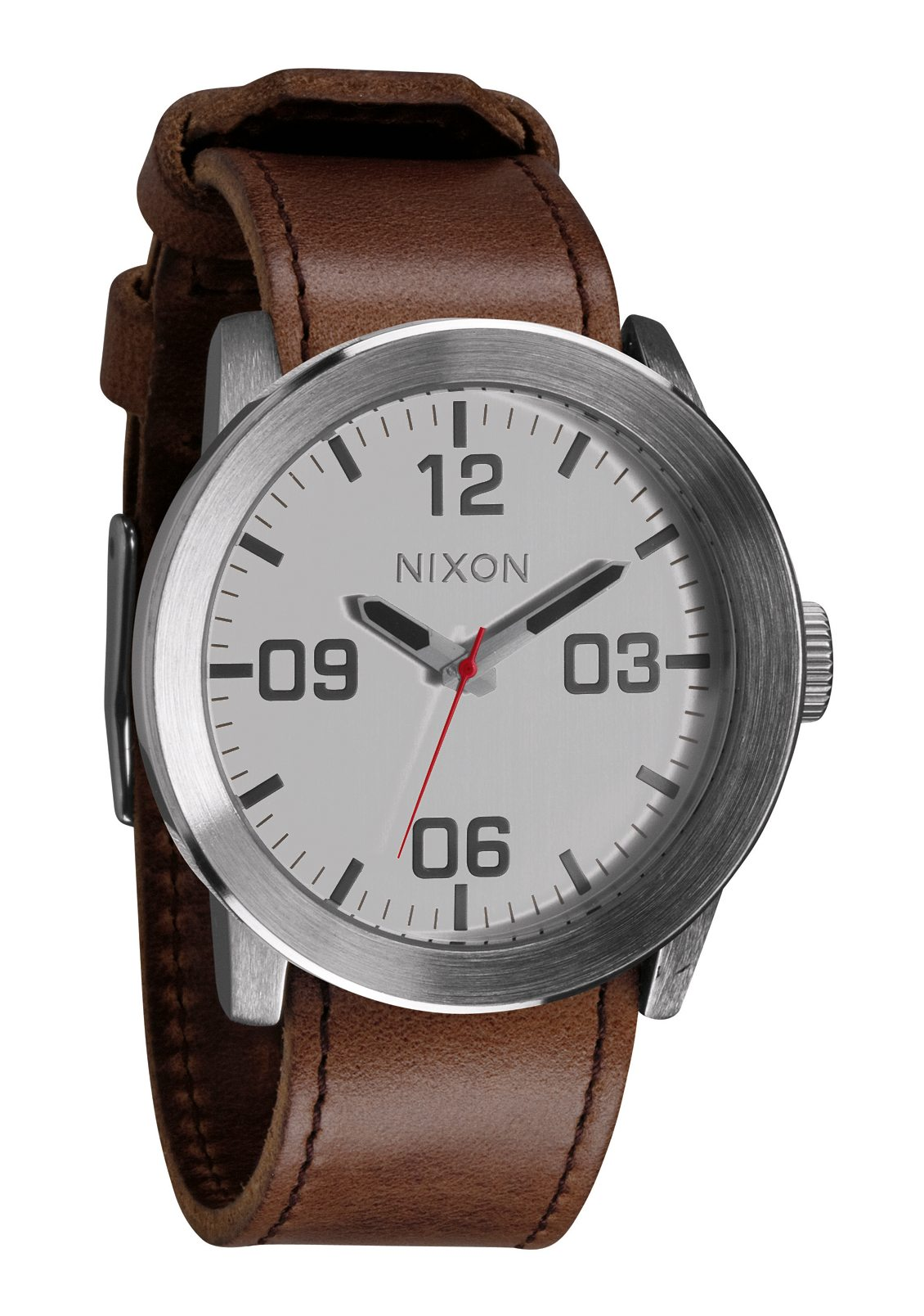 Nixon The Corporal Silver/Brown Herrenuhr