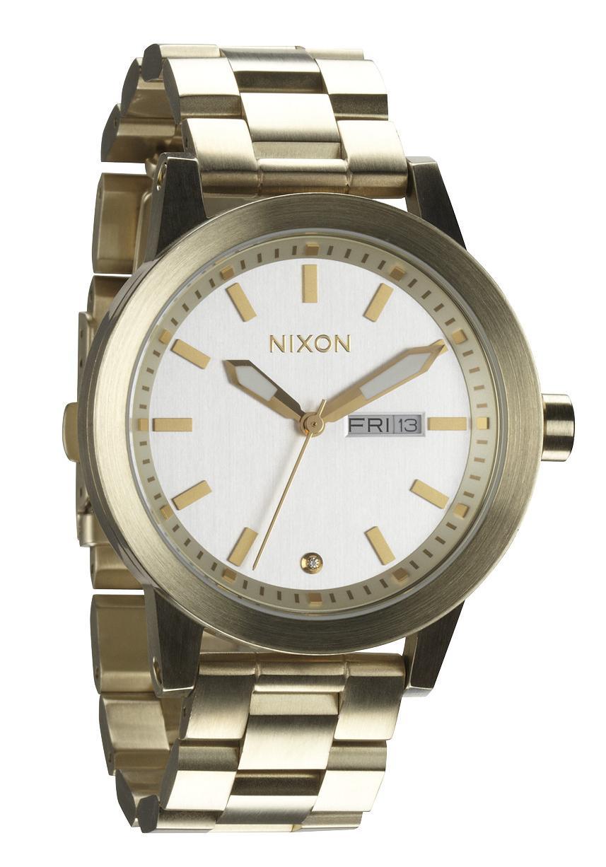 Nixon The Spur Champagne Gold/White Herrenuhr