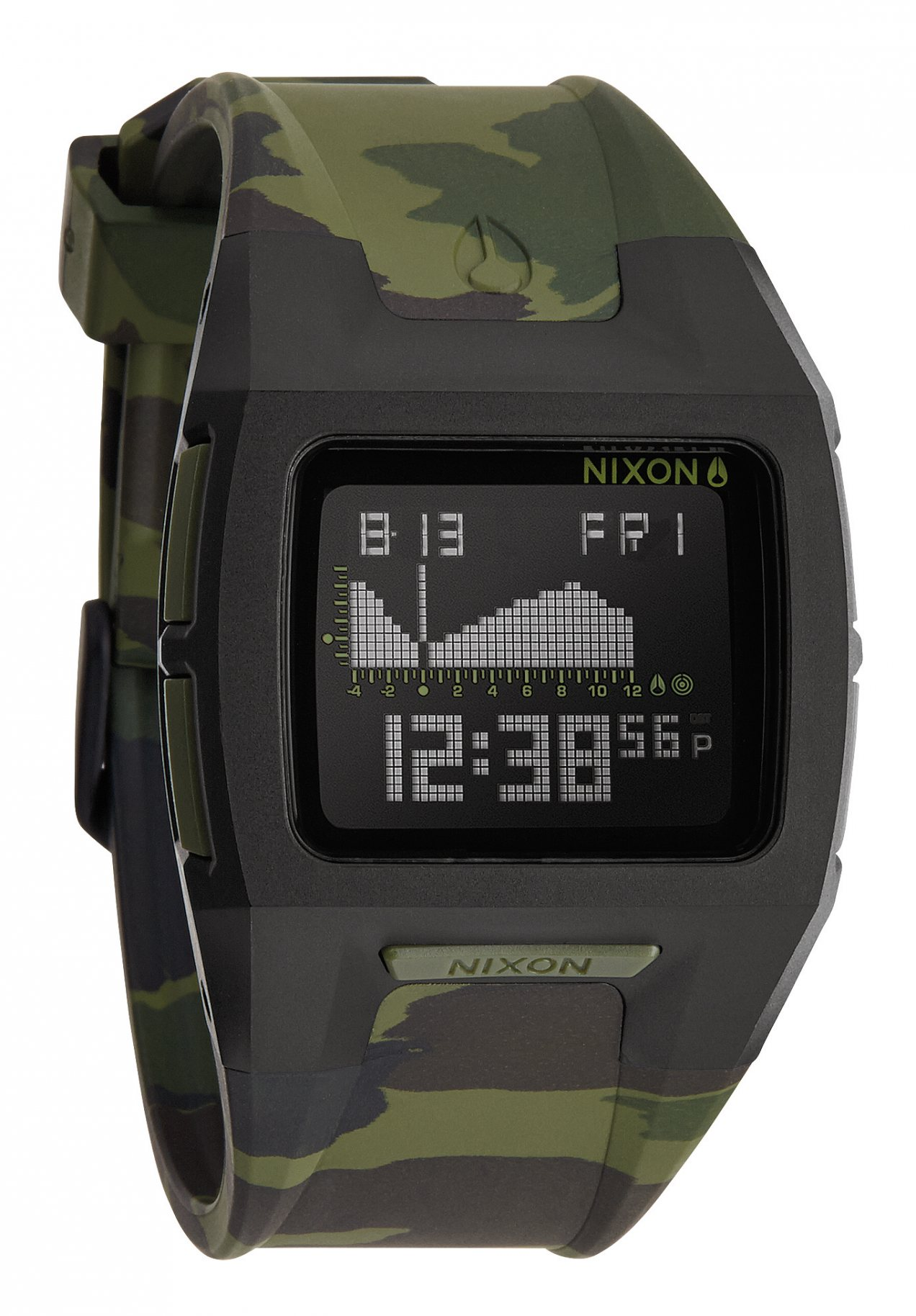 Nixon The Lodown 2 Black / Green Camo