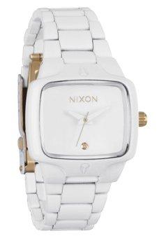 Nixon The Small Player All White/Gold Damenuhr