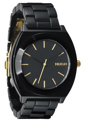 Nixon The Time Teller Acetate All Black/Gold Damenuhr