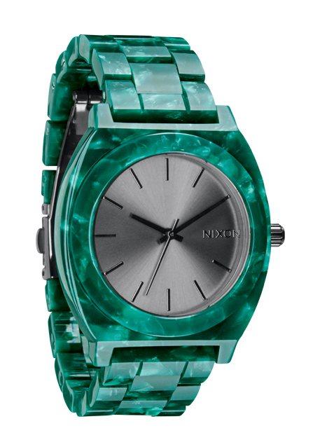 Nixon The Time Teller Acetate Emerald Acetate Damenuhr / Herrenuhr