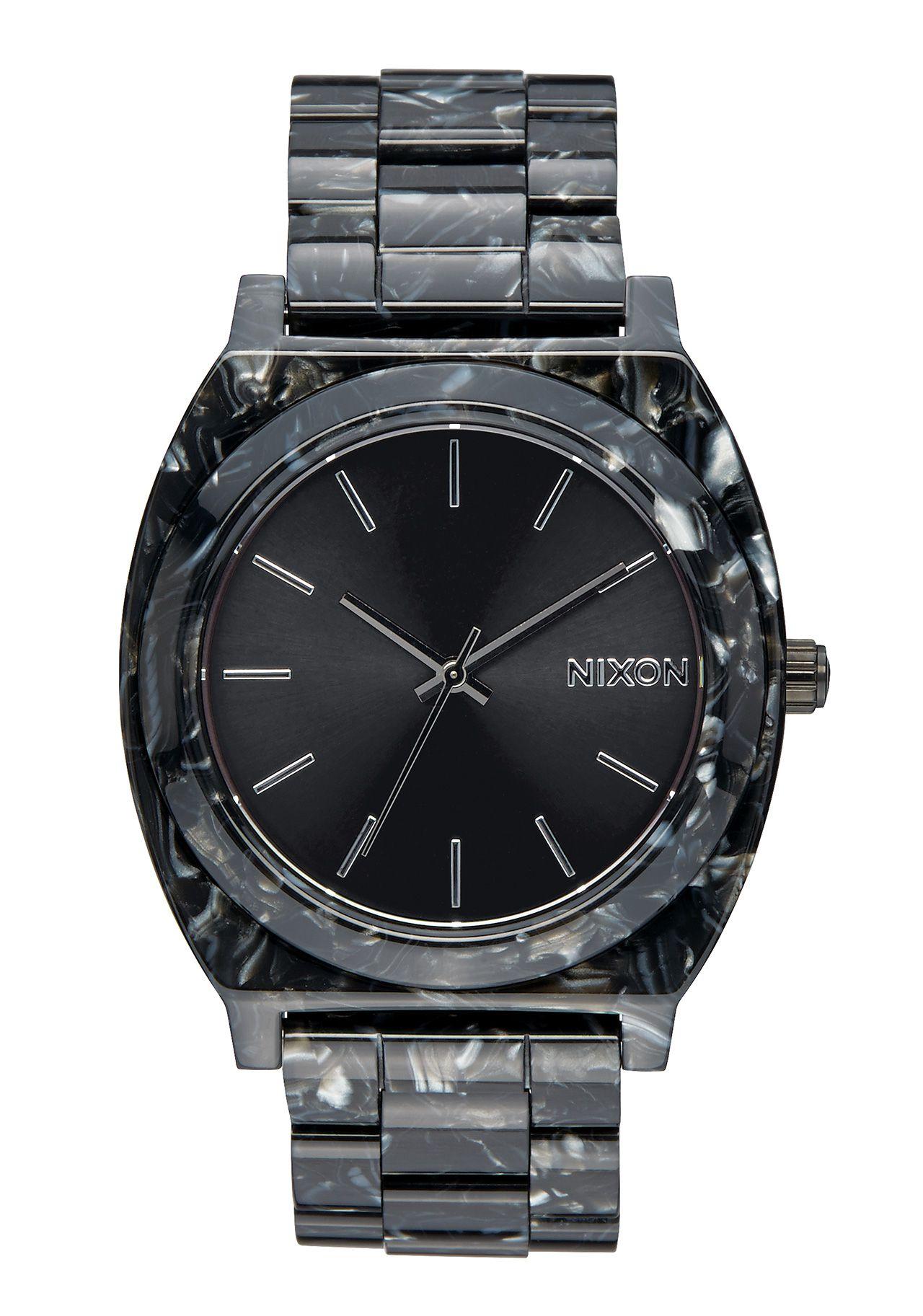 Nixon The Time Teller Acetate Black Silver Multi