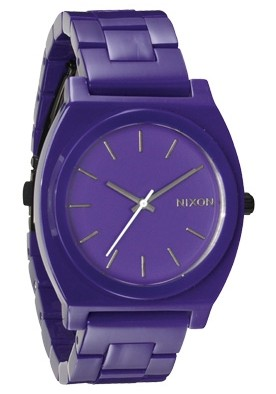 Nixon The Time Teller Acetate Purple Damenuhr