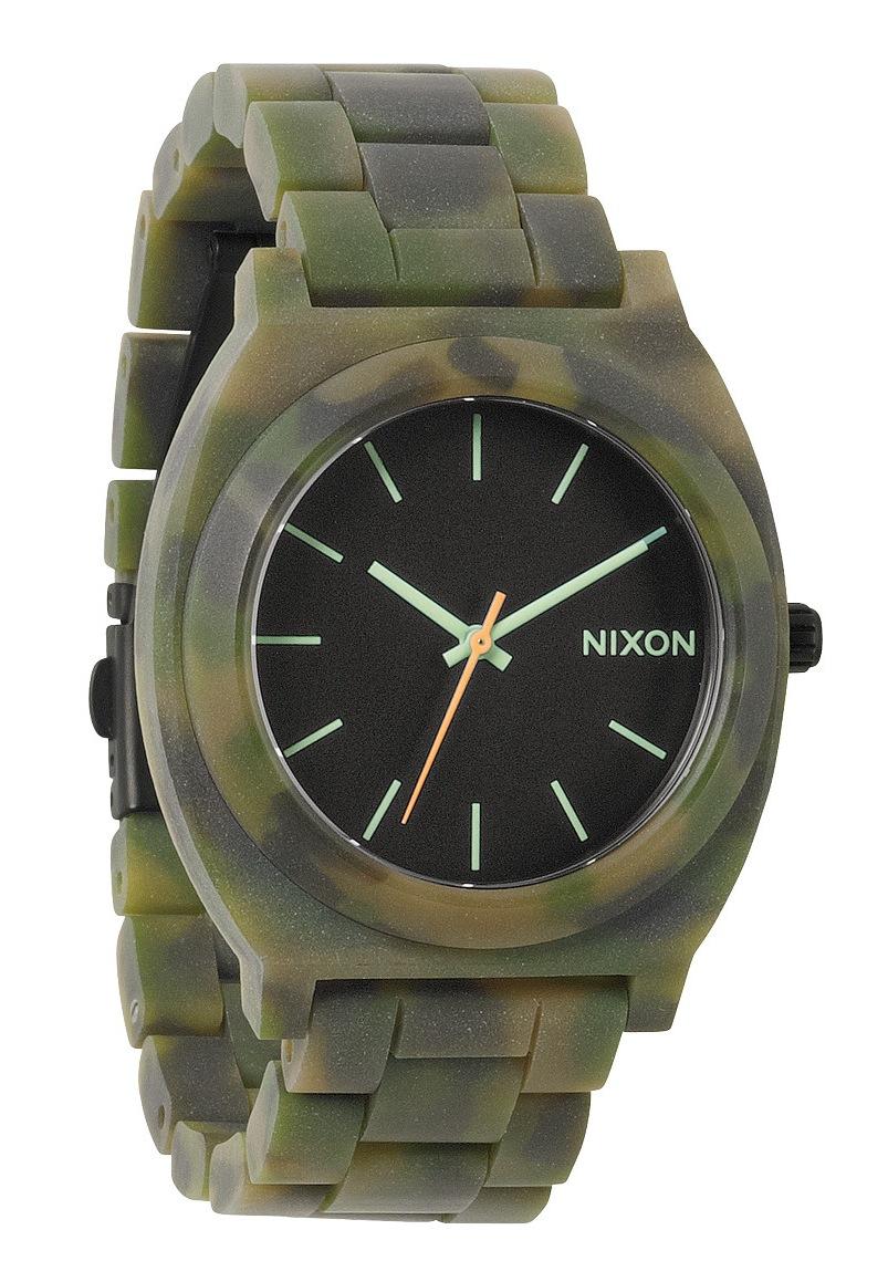 Nixon The Time Teller Acetate Matte Black / Camo