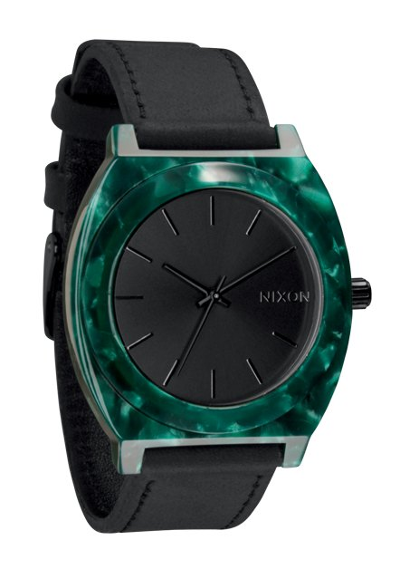 Nixon The Time Teller Acetate White Emerald Damenuhr