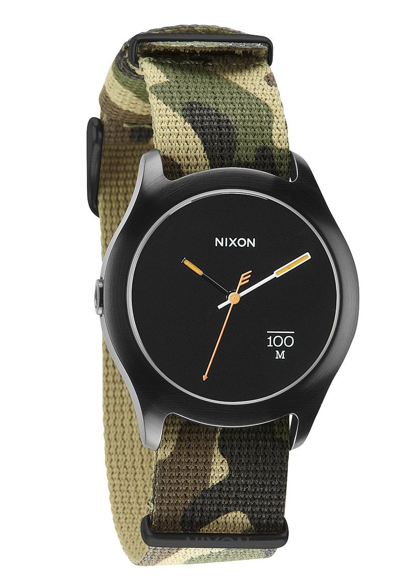 nixon the quad woodland camo nylon uhr a344253 nur 79 00. Black Bedroom Furniture Sets. Home Design Ideas