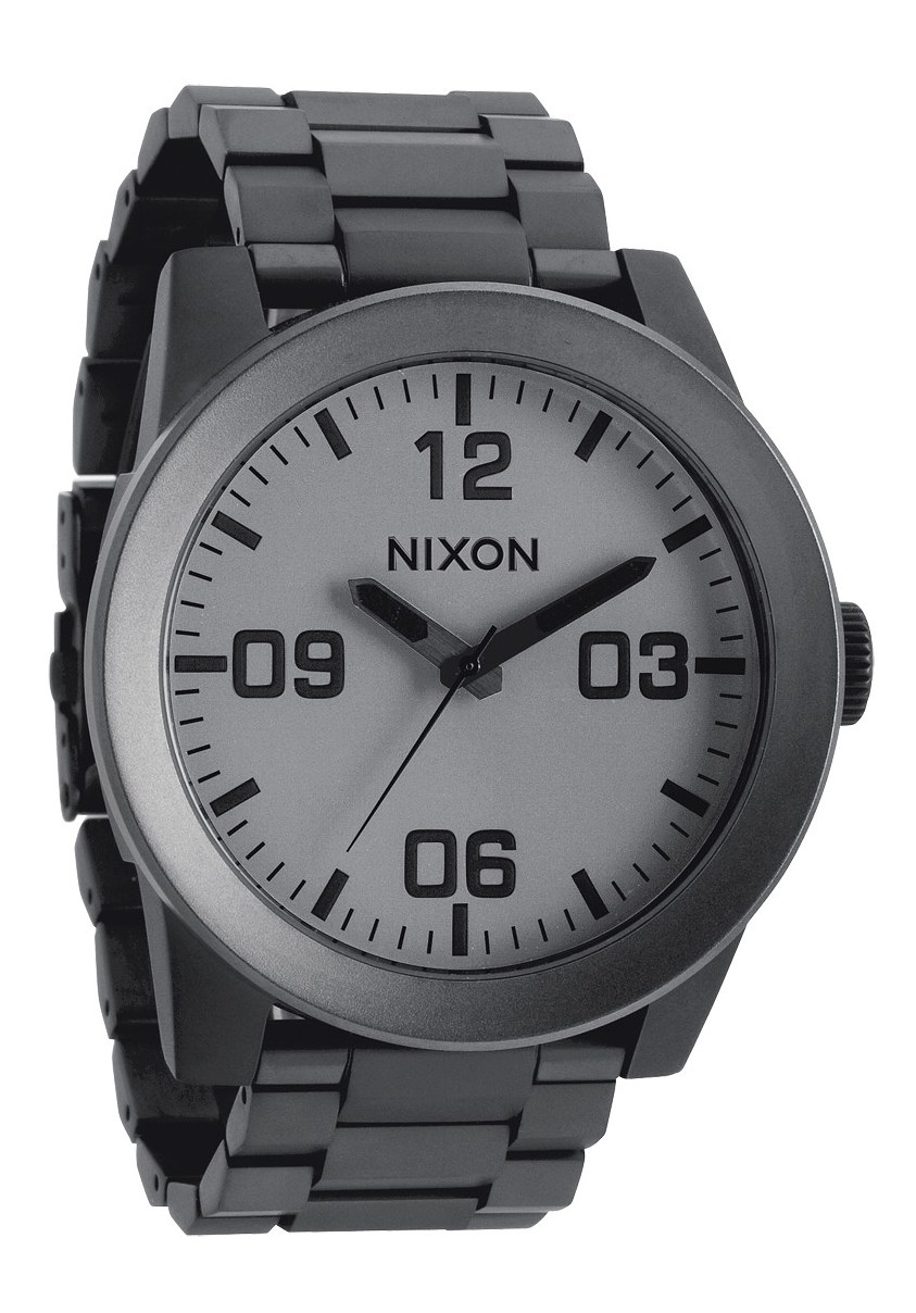 Nixon The Corporal SS Matte Black/Matte Gunmetal Herrenuhr