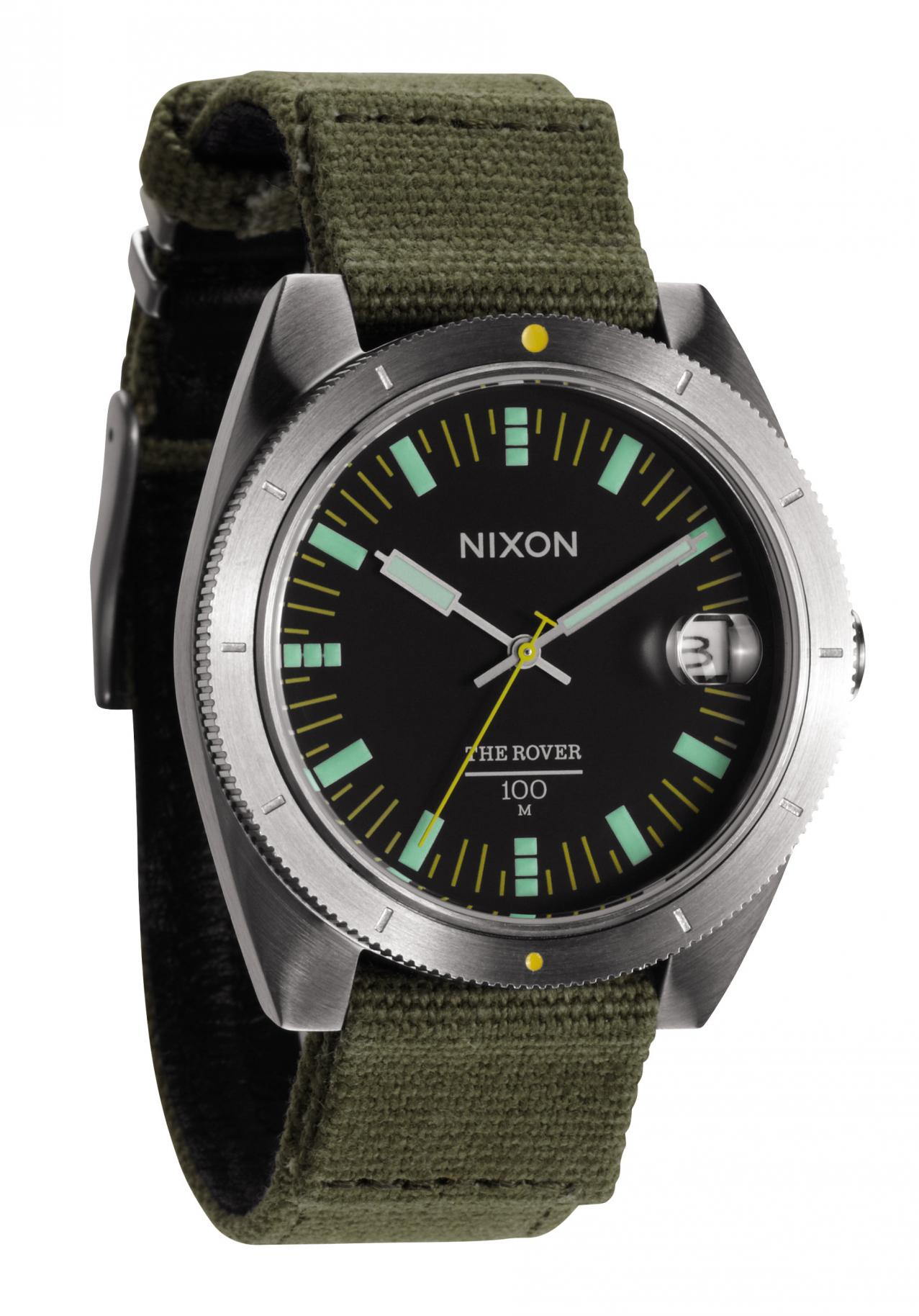 Nixon The Rover Surplus / Black Herrenuhr