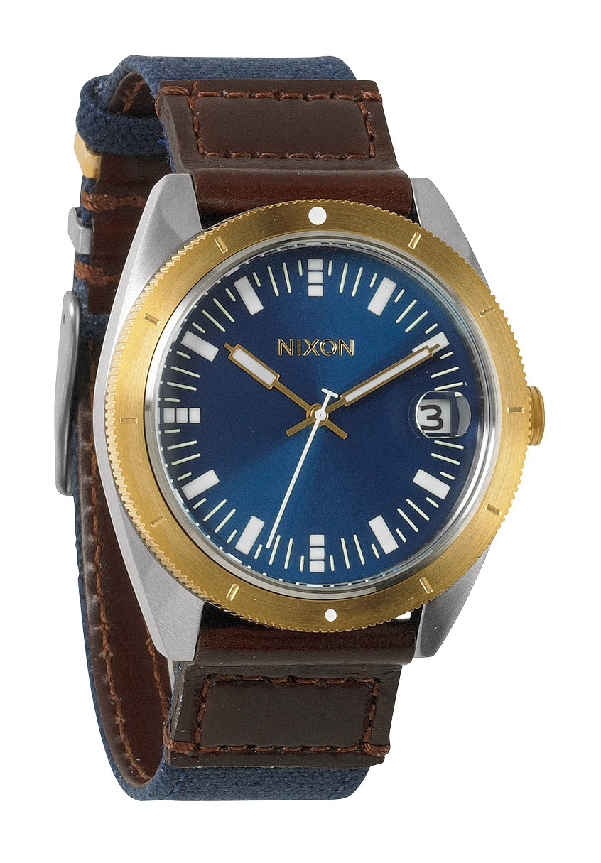 Nixon The Rover II Navy / Brown / Gold