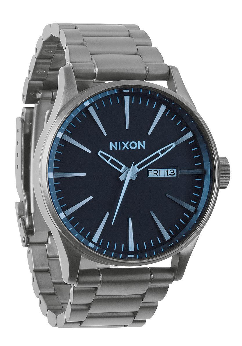 Nixon The Sentry SS Gunmetal / Blue Crystal