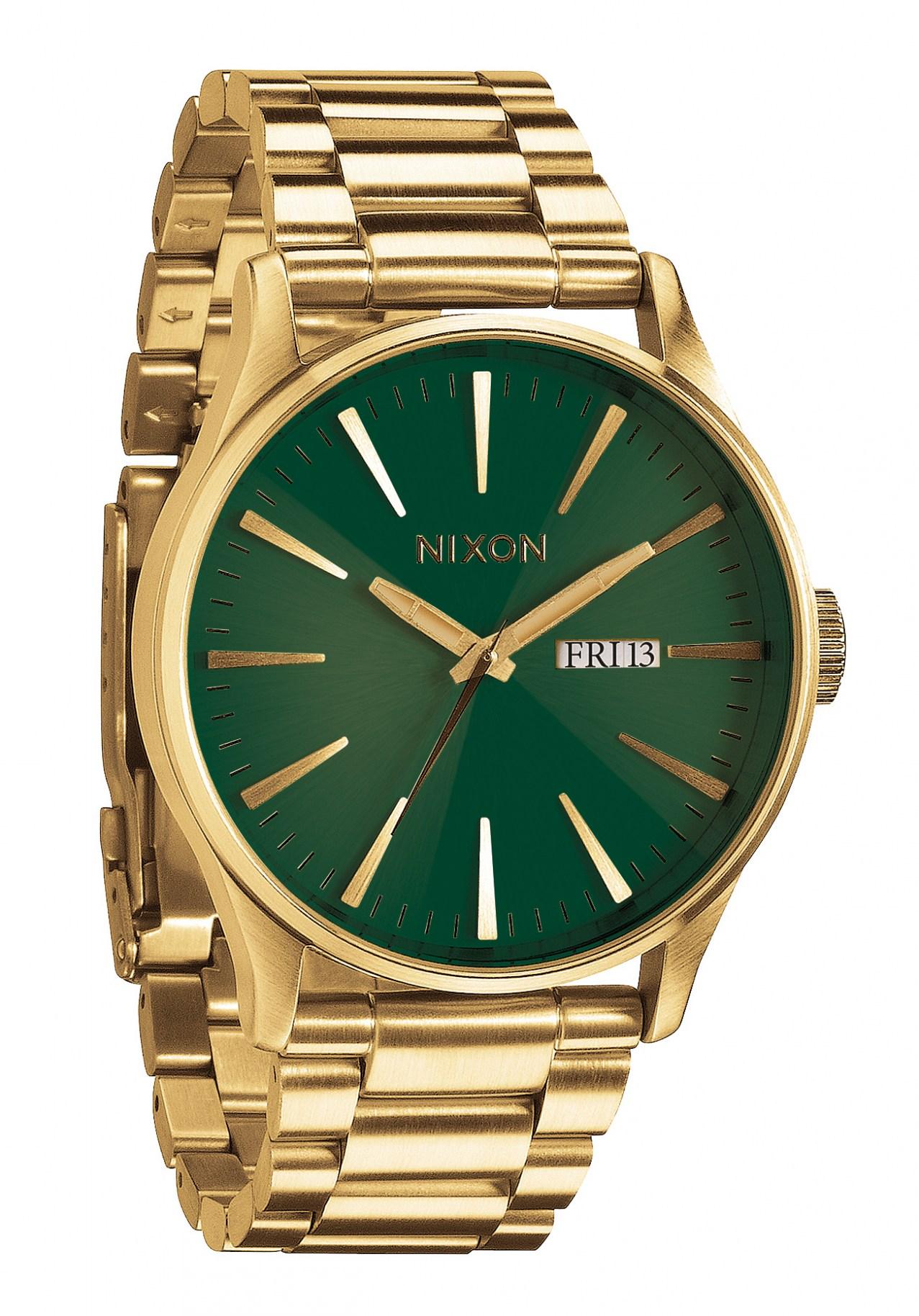Nixon The Sentry SS Gold / Green Sunray