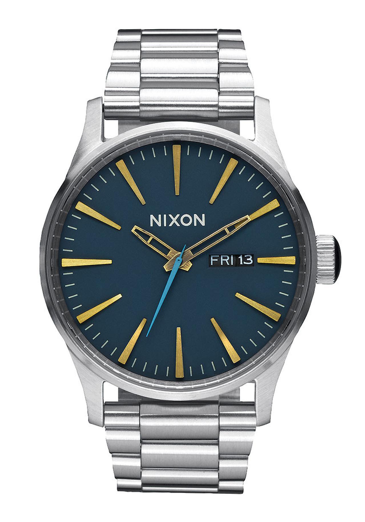 Nixon The Sentry SS Navy Brass Armbanduhr