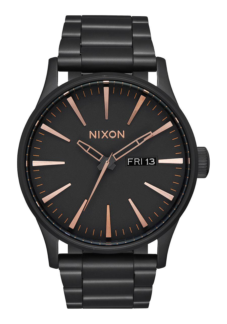 Nixon The Sentry SS All Black / Rose Gold