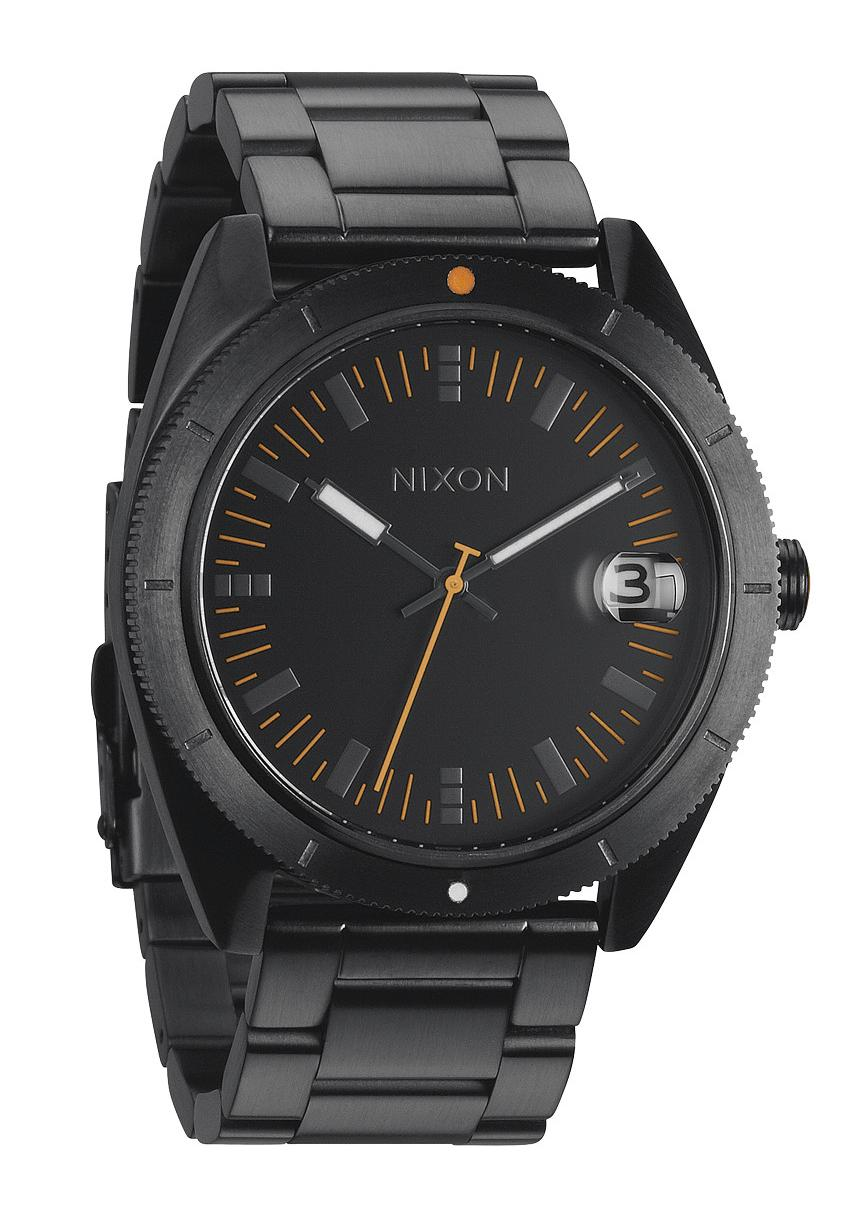 Nixon The Rover SS II All Black / Orange Herrenuhr