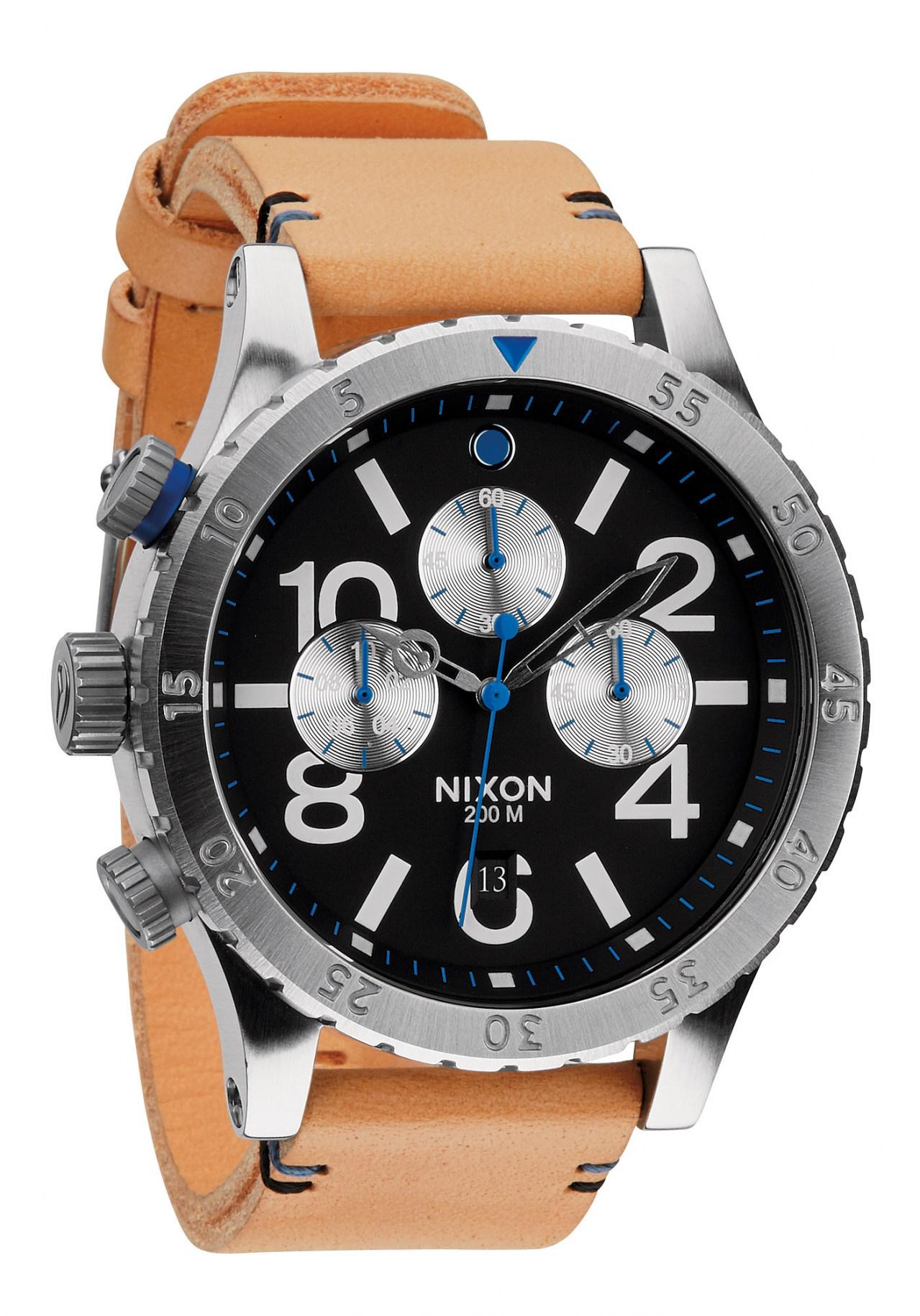 Nixon The 48-20 Chrono Leather Natural / Black