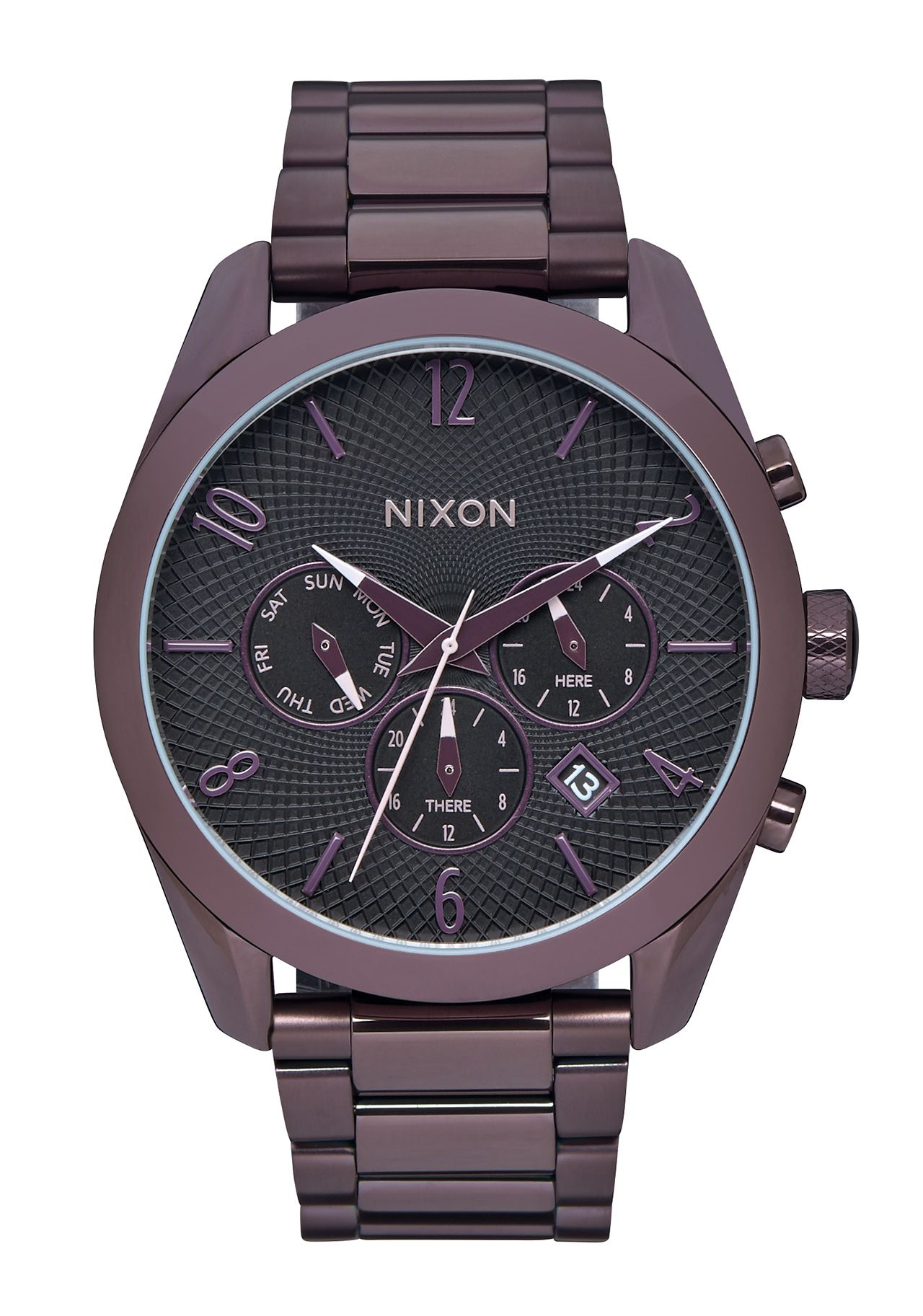 nixon the bullet chrono all plum black a3662172 nur 149 00. Black Bedroom Furniture Sets. Home Design Ideas