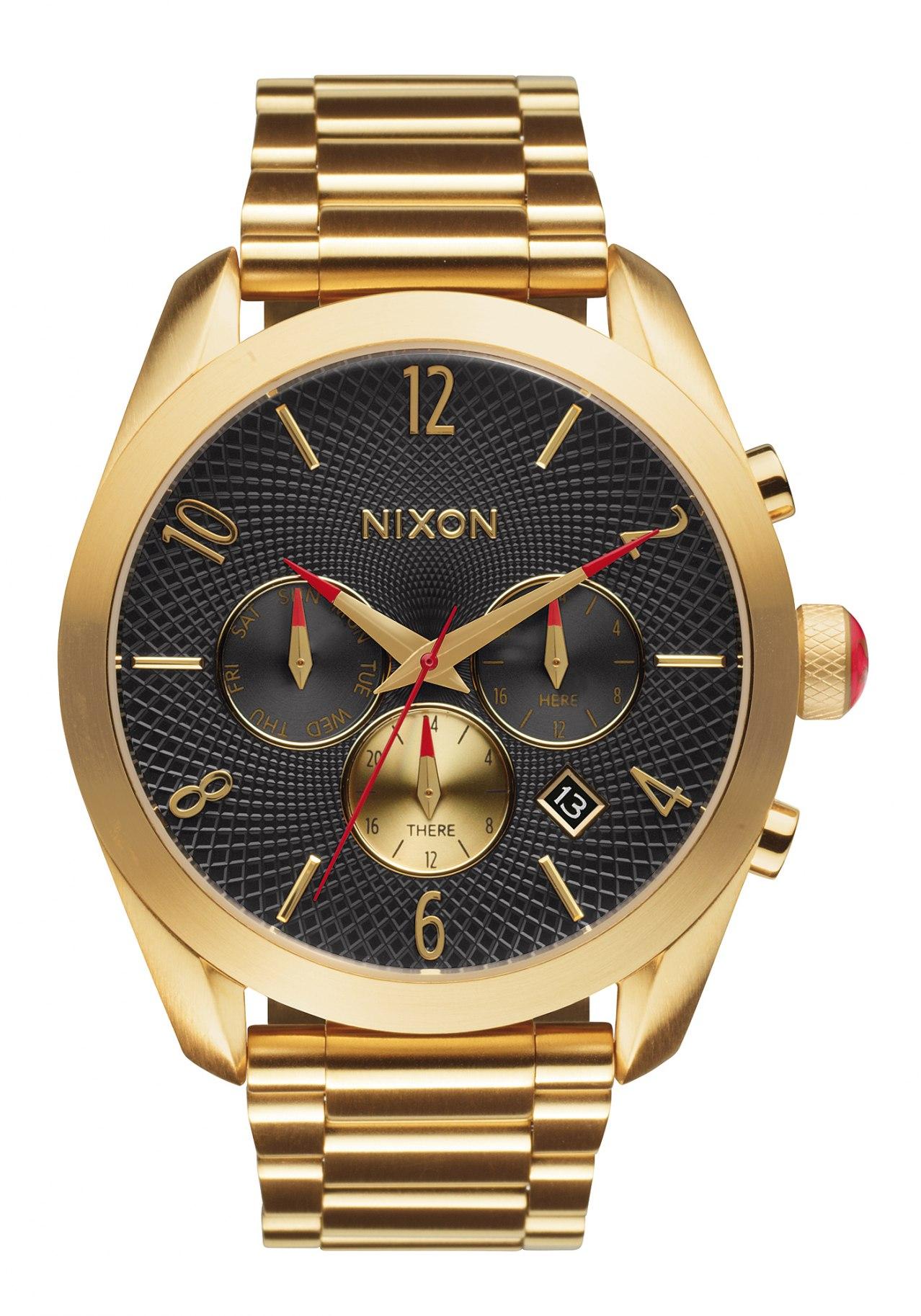 Nixon The Bullet Chrono All Gold Black