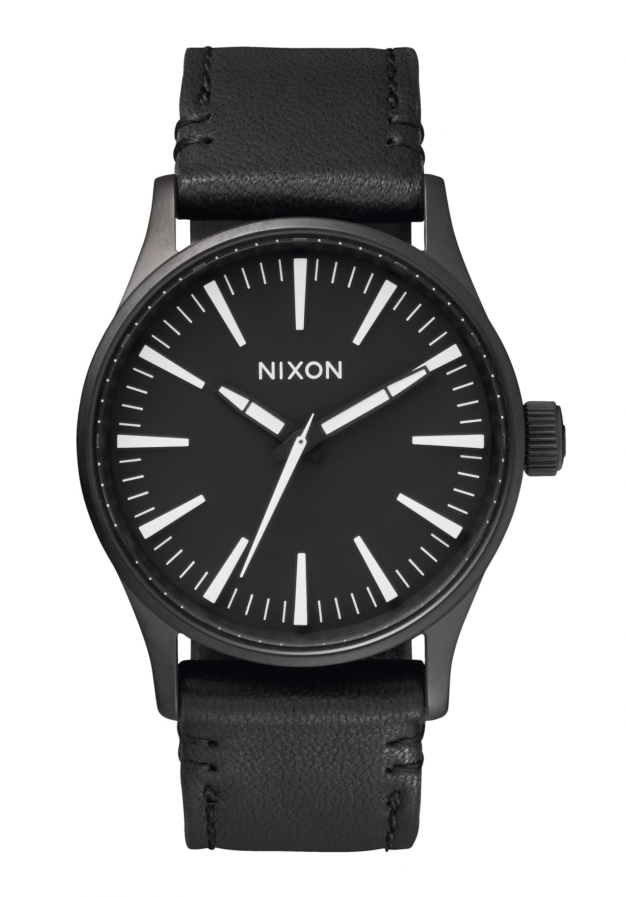 Nixon The Sentry 38 Leather Black / White