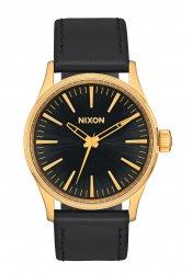 Nixon The Sentry 38 Leather Gold / Black Sunray (A3771604)