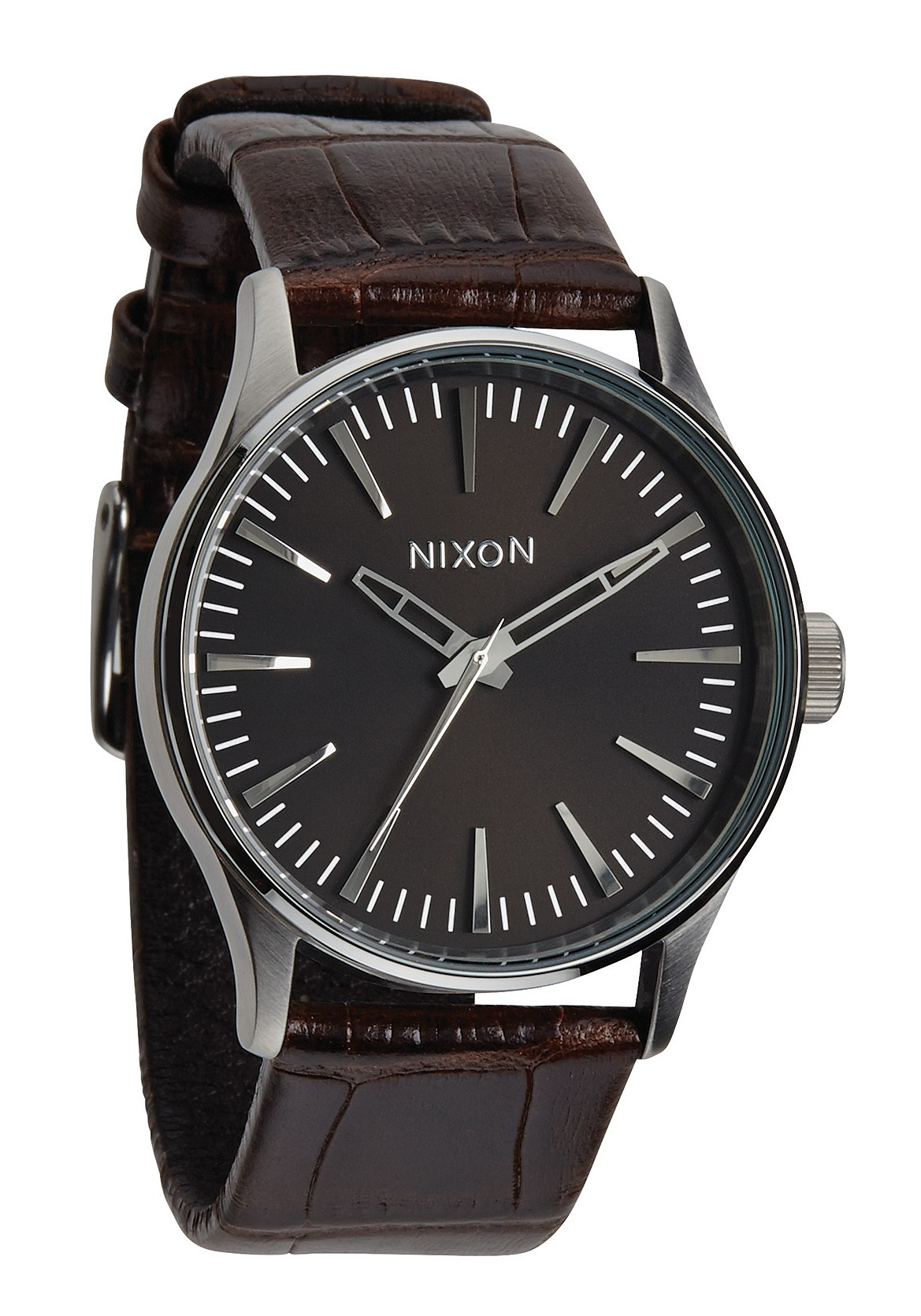 Nixon The Sentry 38 Leather Brown Gator