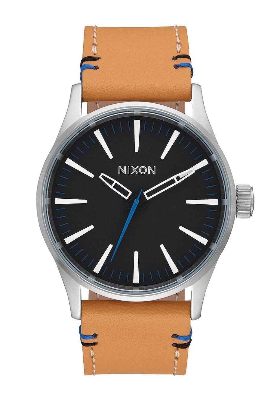 Nixon The Sentry 38 Leather Black / Natural