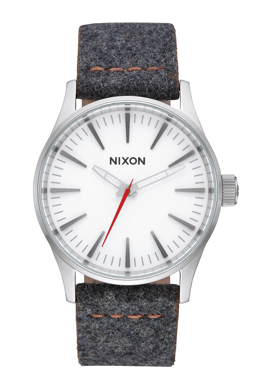 Nixon The Sentry 38 Leather Gray / Tan