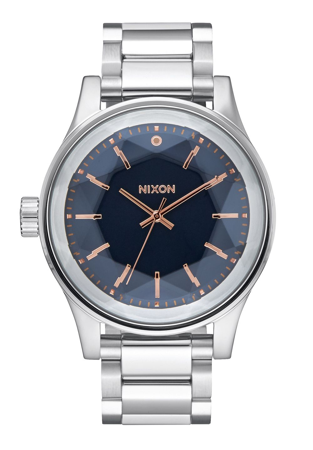 Nixon The Facet Navy / Rose Gold