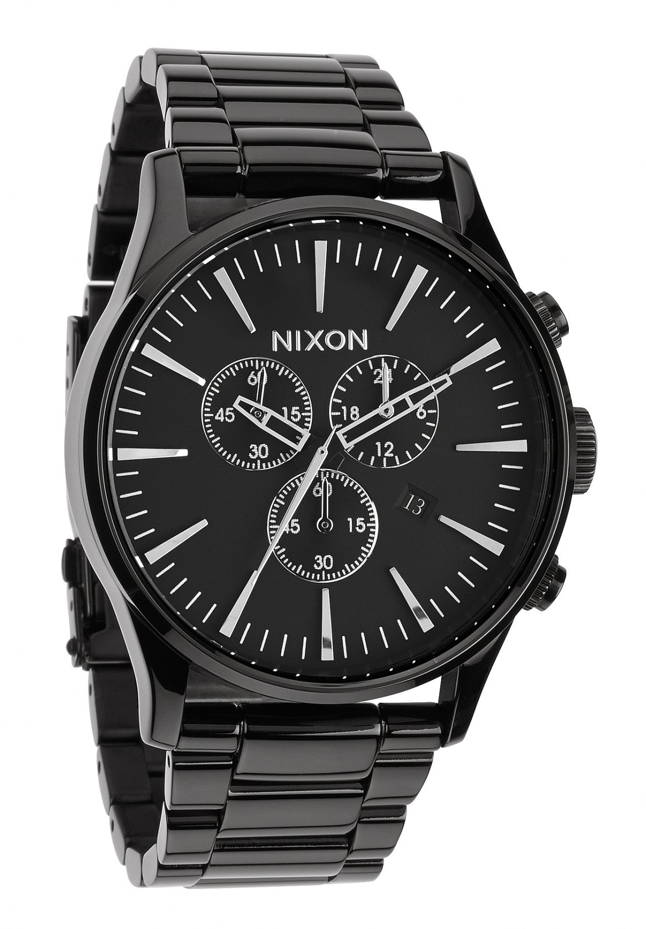 nixon the sentry chrono all black herrenuhr a386001 nur 225 00. Black Bedroom Furniture Sets. Home Design Ideas