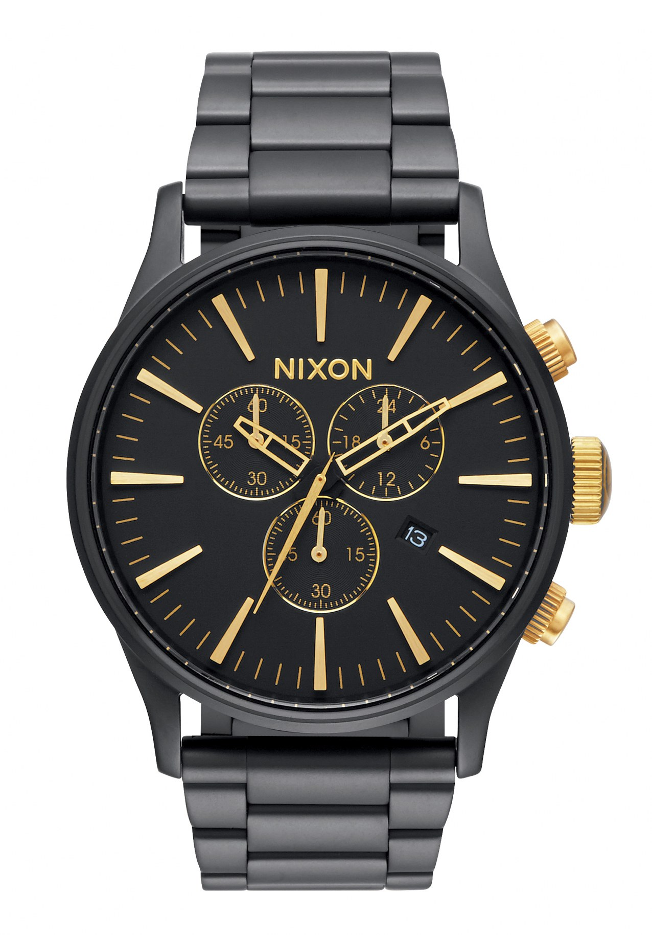Nixon The Sentry Chrono Matte Black / Gold