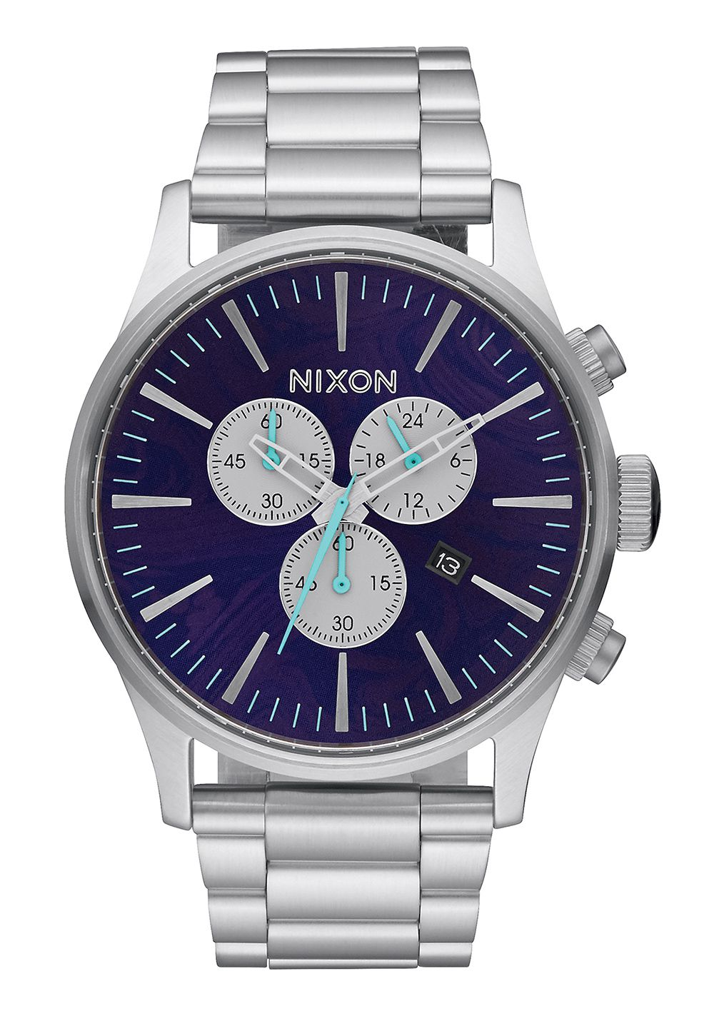 Nixon The Sentry Chrono Purple Herrenchronograph