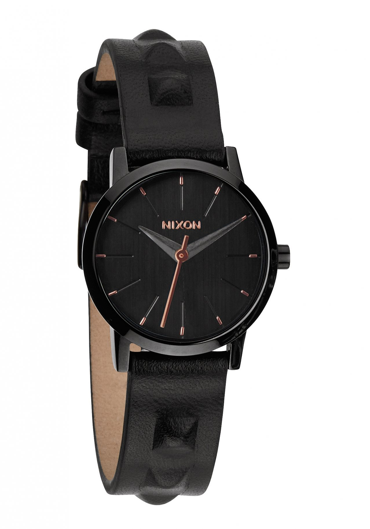 Nixon The Kenzi Leather All Black / Studded